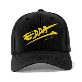 Sapka nyomott sárga EDDA művek mintával
