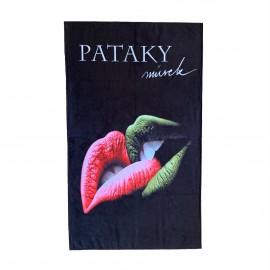 Törülköző Pataky művek felirattal CD borítós 125x76 cm